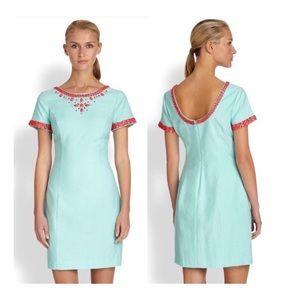 LILLY PULITZER Nora Mini Dress Crystal Beaded 0